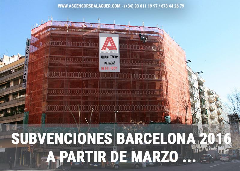 A partir de Marzo, subvenciones 2016 en Barcelona