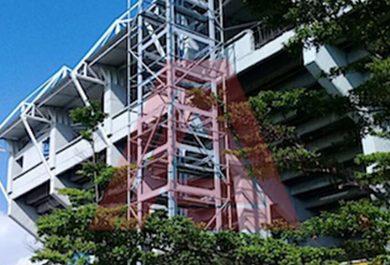 Instalación de Ascensor en Estadio Ramirez Escobar de Palmira, Colombia