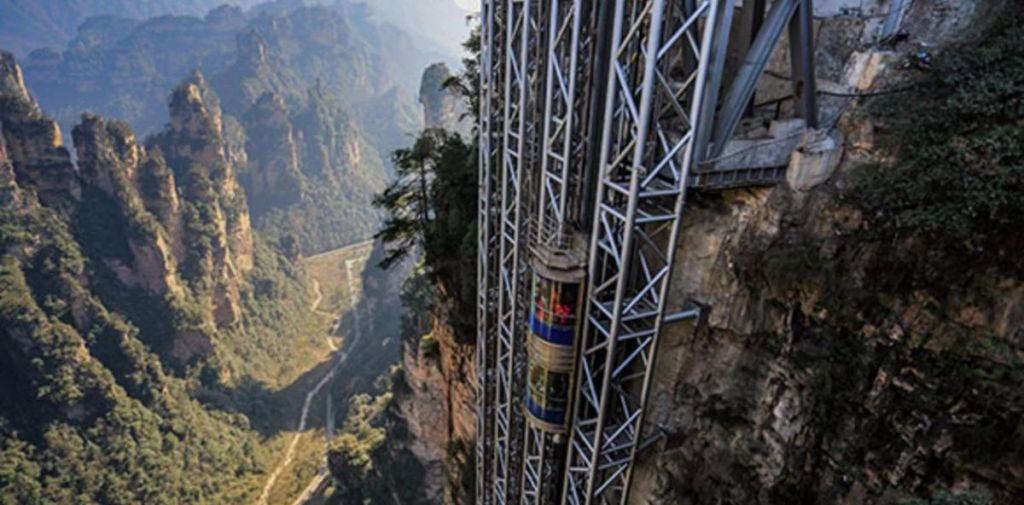 El ascensor exterior más alto del mundo está en China y supera a la Torre Eiffel