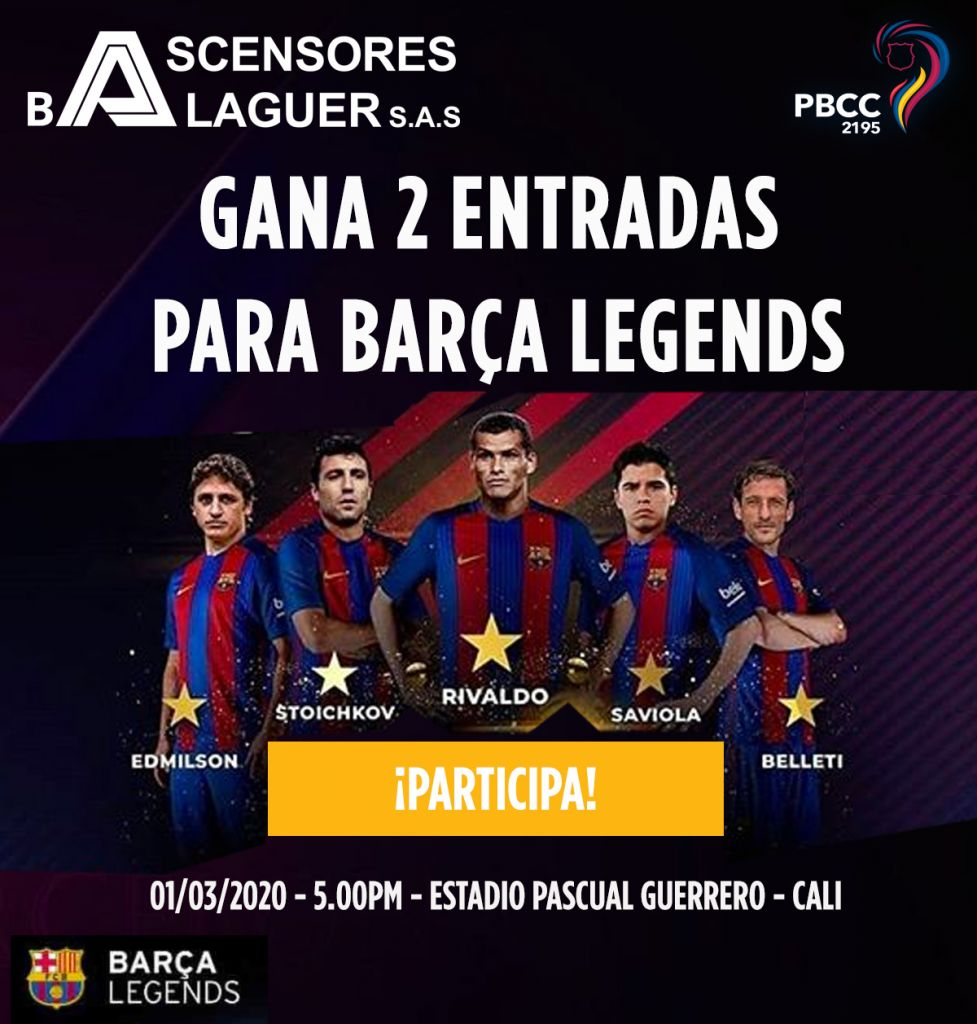 Gana 2 entradas para Barça Legends en Cali